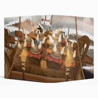 Viking Invasion Fleet 3 Ring Binder