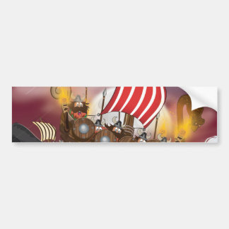 Viking Invasion Fleet Bumper Sticker