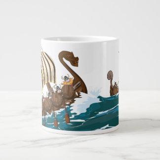 Viking Invasion Fleet Giant Coffee Mug