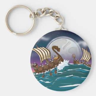Viking Invasion Fleet Keychain