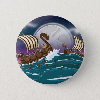 Viking Invasion Fleet Pinback Button