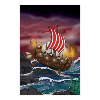 Viking Invasion Fleet Poster