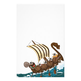Viking Invasion Fleet Stationery