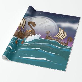 Viking Invasion Fleet Wrapping Paper