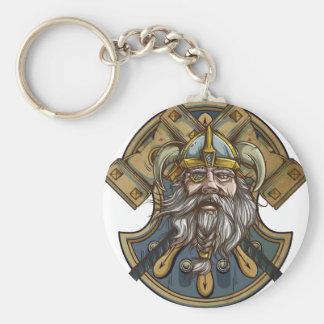 Viking Basic Round Button Keychain