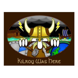 Viking Kilroy Postcard 2