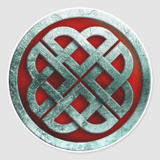 viking knot classic round sticker