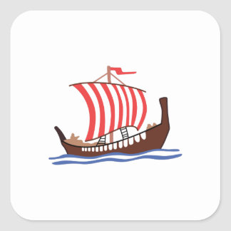 VIKING LONG SHIP SQUARE STICKER
