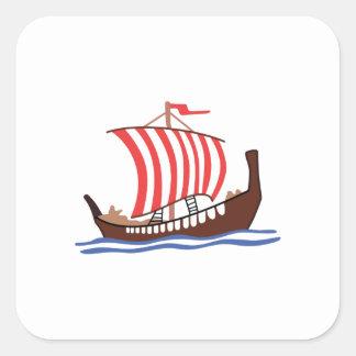 VIKING LONG SHIP SQUARE STICKER