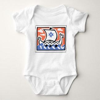Viking Longboat Baby Bodysuit