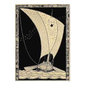 Viking Longship at Sea Card