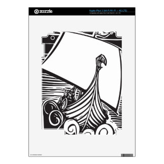 Viking Longship Sailing iPad 3 Skin