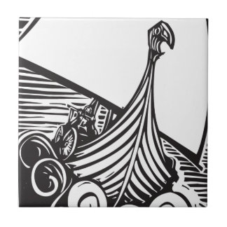 Viking Longship Sailing Tile