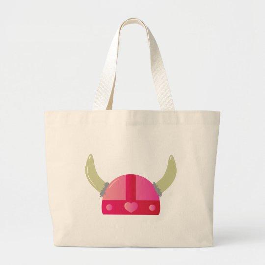 Viking Love Helmet Large Tote Bag