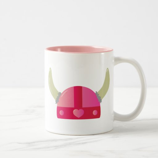 Viking Love Helmet Two-Tone Coffee Mug