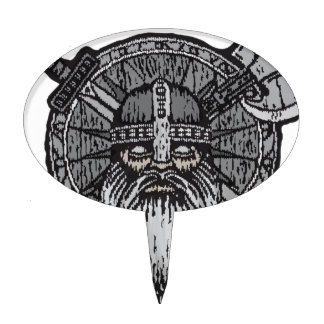 viking man germanic nordic norse runic cake topper