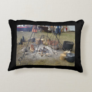 Viking Market Campfire Cooking Accent Pillow