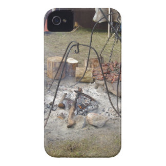 Viking Market Campfire Cooking iPhone 4 Cover