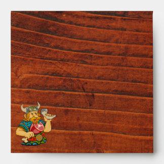 Viking Medieval Wooden Effect Envelope