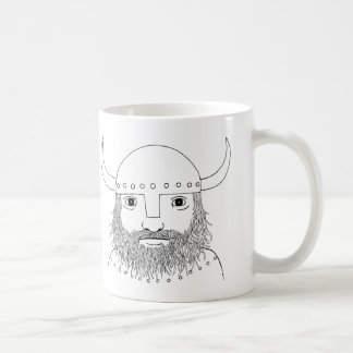Viking Mug Viking Helmet Manly Man Illustration
