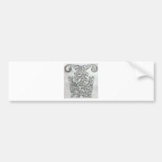 VIKING & OSEBERG KNOTWORK DESIGN BUMPER STICKER