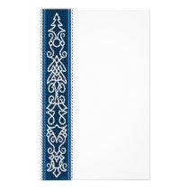 Viking Pattern Blue Stationery