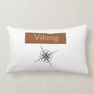 viking pillow with compass