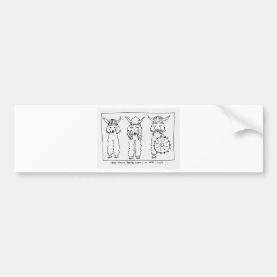 Viking Poodle Bumper Sticker
