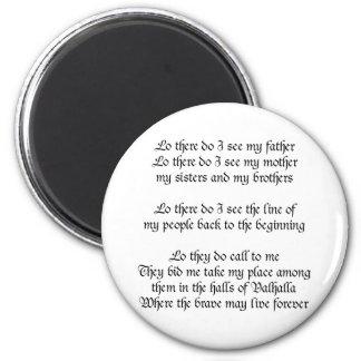 Viking Prayer 2 Inch Round Magnet