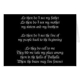 Viking Prayer Black Cards