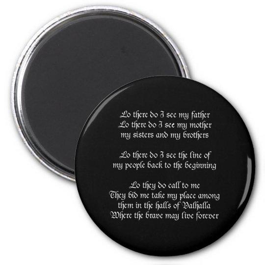 Viking Prayer Black Magnet