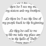 Viking Prayer Lo There Do I See My Father Round Sticker