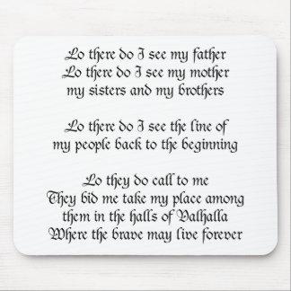 Viking Prayer Mouse Pad