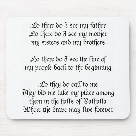 Viking Prayer Mouse Pad