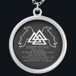 """Viking Prayer Necklace<br><div class=""""desc"""">Viking Death Prayer Necklace...  Odin&#39;s Ravens With Valknut... </div>"""