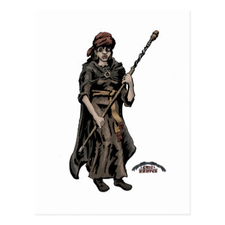 Viking priestess postcard