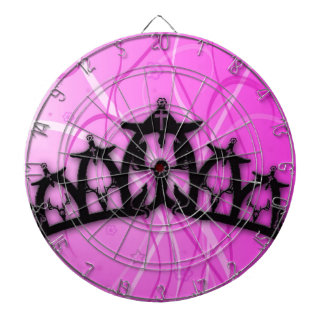 Viking Princess Crown- pink Dartboard With Darts