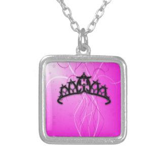 Viking Princess Crown- pink Custom Necklace