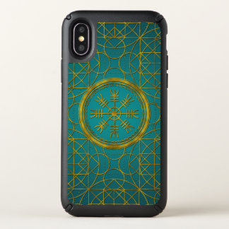 Viking protection runes helm of awe talisman speck iPhone x case