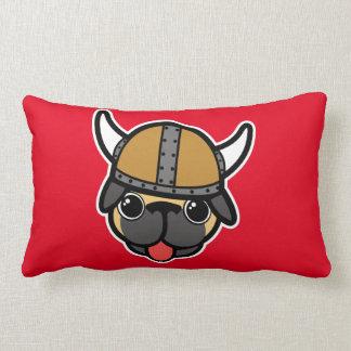 Viking Pug Lumbar Pillow