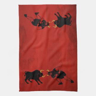 Viking que coincide con un toro toallas de cocina