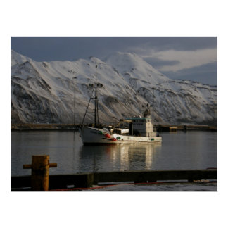 Viking Queen, Crab Boat in Dutch Harbor, AK Poster