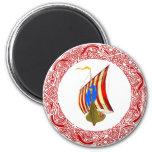 Viking raiders 2 inch round magnet