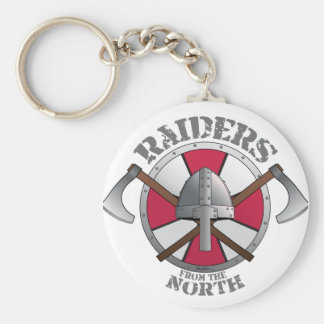 Viking Raiders from the North! Basic Round Button Keychain