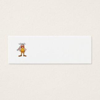 Viking Repairman Standing Spanner Cartoon Mini Business Card