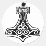 Viking Round Stickers