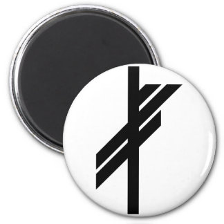 Viking Rune - Luck - black Magnet