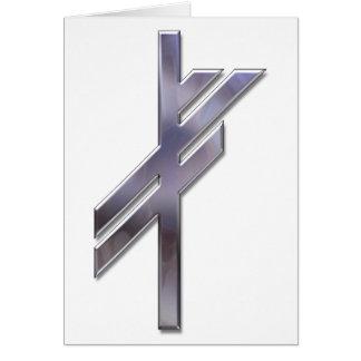 Viking Rune-luck-silver Card