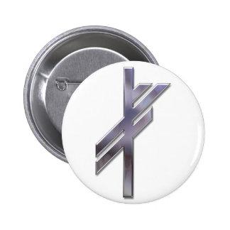 Viking Rune-luck-silver Pinback Button