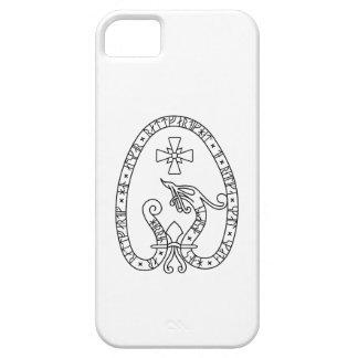 Viking Rune Stone black wild duck white iPhone SE/5/5s Case